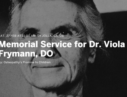 Memorial Service for Dr. Viola Frymann, DO